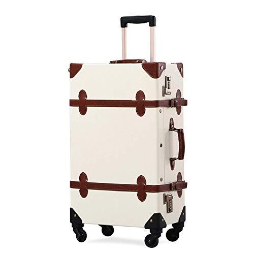 GSAGJlgx Premium Vintage Luggage Sets 24'Trolley-Kofferset mit TSA-Schlössern (Size : 22inch)
