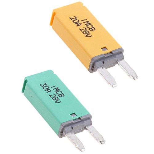 Sharplace 2pcs Voiture ATM Mini Lame Fusible Disjoncteur Manuel Reset Type III - 10A + 30A