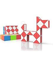 ROXENDA Magic Snake met 24 Segmenten, 3D Magische Slang Kubus - Puzzle Games IQ Toy voor Kinderen en Volwassenen - 1 Pack