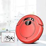 RVTYR Nettoyage Robot Intelligent Robot Aspirateur for Home Aspirateur Robot sans Fil Anti Chute avec la Machine de Balayage Mopping, Vide (Color : Red)