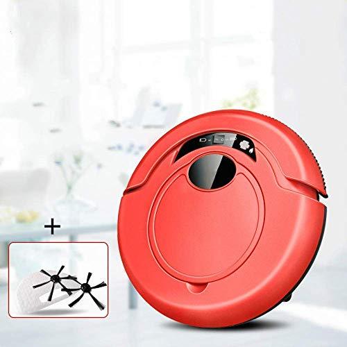 RVTYR Limpieza del Robot Robot Aspirador Inteligente for aspiradoras sin Hilos casero del Robot Anti caída del Equipo de Barrido con trapeador, aspiradora (Color : Red)