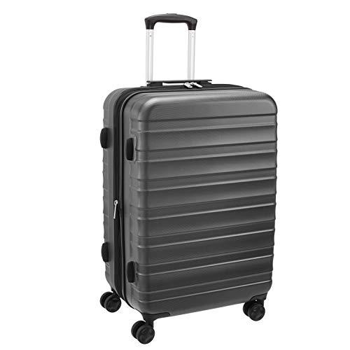 Amazon Basics – Premium-Hartschalenkoffer, robust, 56 cm, grau