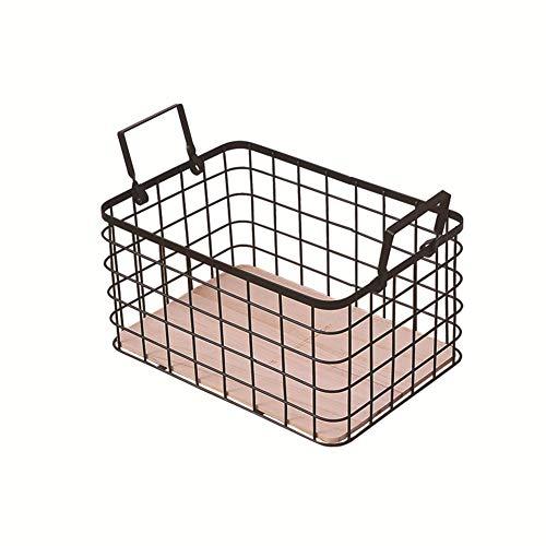 pzcvo aufbewahrungskorb körbe aufbewahrung Drahtkorb kleine Box zur Aufbewahrung Aufbewahrungskörbe für Badezimmer schwarzer Drahtkorb
