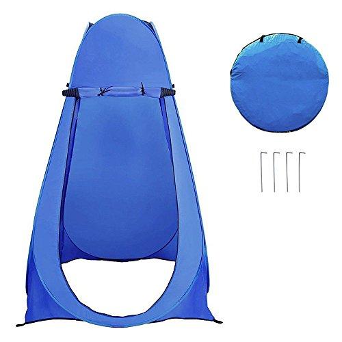 LOKEP Portable Privacy Shelter Outdoor Pop up Camping Utility Dressing fasciatoio WC Tenda Doccia Camera da Spiaggia con Borsa per Il Trasporto (120x 120x 190cm)