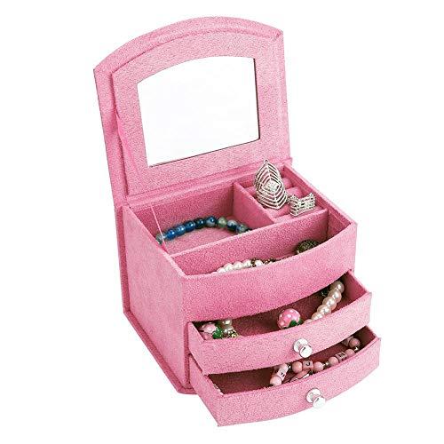 Caja de joyería, 3 capas portátil, accesorios para el hogar, cajas de joyería y organizadoresjoyería pendientes anillos pulsera collar organizador almacenamiento [3#]