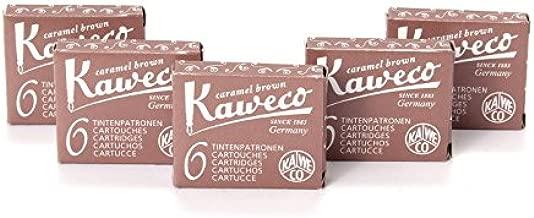 Braun 30 Stück Kaweco Tintenpatronen kurz Caramel Brown