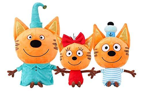 Katten Russische drie kittens pluche pop speelgoed knuffels Happy Cat Action Figure speelgoed voor kinderen geschenken