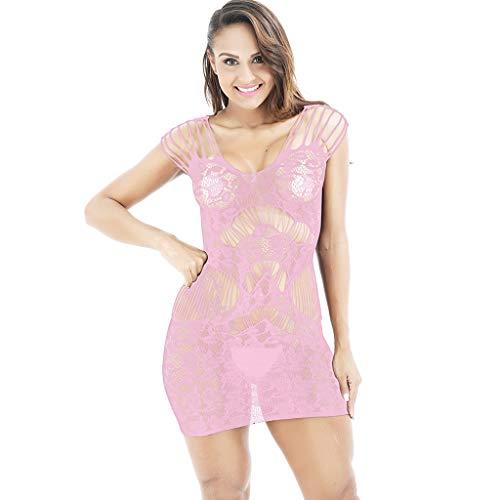 Mehrfarbig Mesh Kurzer Rock Slim Fitdessous Damen Sets Body Rückenfrei Bodysuit Strumpfhaltergürtel Dessous Satin Dessous Unterwäsche