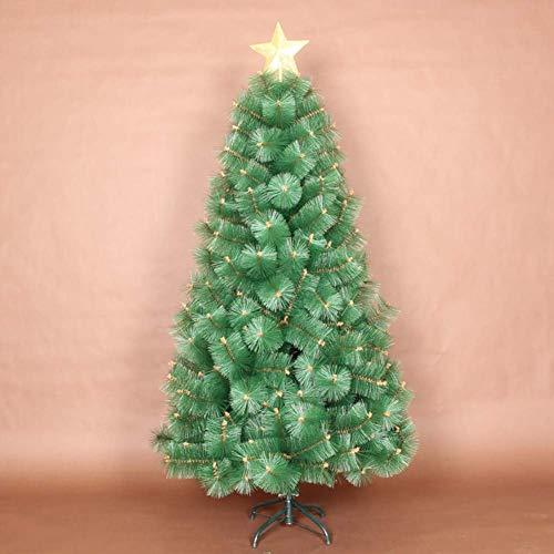 weiwei Árbol de Navidad Artificial Verde Aguja de Pino de 3 4 m Árbol de Pino de Navidad con árbol Top Star Holiday Decoración navideña Árbol-9.8ft (3m)