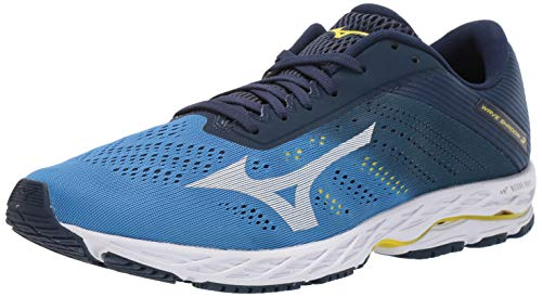 Mizuno Men's Wave Shadow 3 Running Shoe, Campanula-White, 11.5 D US