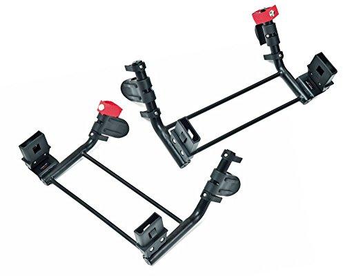 TFK Les adaptateurs Twin Trail Double pour coque-auto accessoires pour poussette, noir