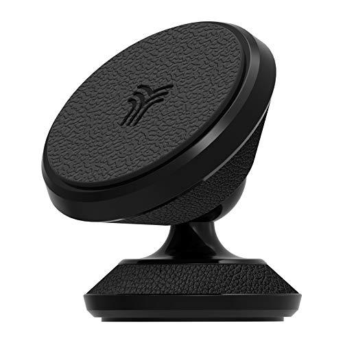 YOSH Supporto Auto Smartphone Magnetico -360° Gradi Adesivo Cruscotto Supporto Telefono Porta Cellulare Auto per iPhone11/XS Max/XR/8/7 plus,Samsung S8/9/10, Huawei GPS e MP3 (Pelle)