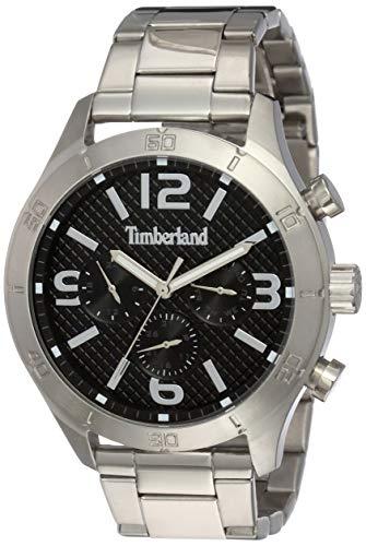 Timberland Reloj Multiesfera para Hombre de Cuarzo con Correa en Acero Inoxidable TBL.15358JS/02M