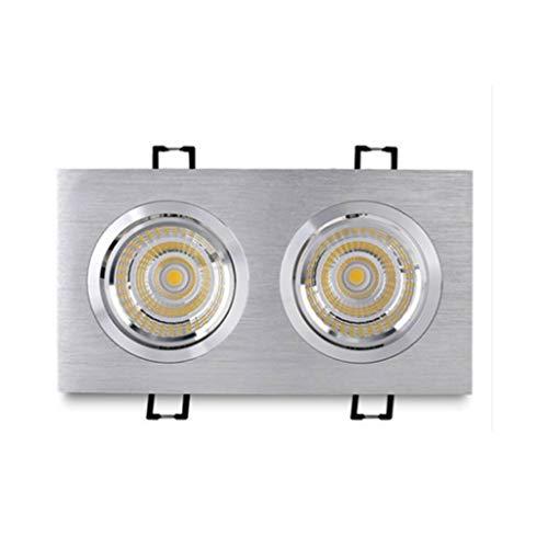 WRMOP LED-paneel licht ultradunne dimbare plafondlamp versnelling licht, flexibele anti-vervaging hoek, home office commerciële verlichting (10W opening 15,7 * 8 cm), R/19/12/26