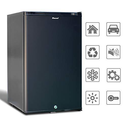 Smad Nevera Portátil Refrigerador de Caravanas 220 V / 12 V, Nevera de Camping con Cerradura, 44L, Negra