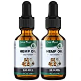 Owe Uself 2Pack 3000mg Hemp Oil for Dogs - Separation Anxiety, Joint Pain, Stress Relief, Arthritis, Seizures, Calming Dog Treats - Organic Hemp Seed Oil Extract