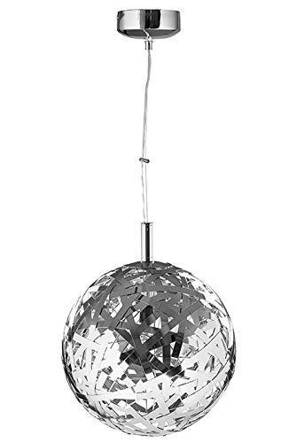 Fink Mola - Lámpara de techo colgante (acero inoxidable, diámetro 40 m), color plateado brillante