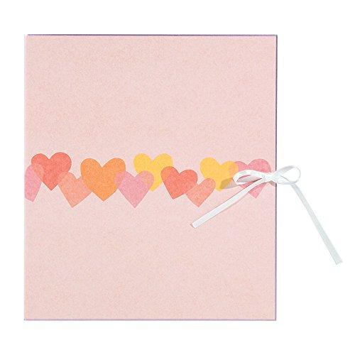 ミドリ 二つ折り色紙 ハート柄