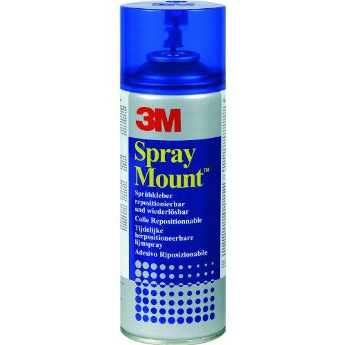 1Caja/1VE (12latas) Spray adhesivo Spray Mount–con una excelente comienzo Resistencia, reutilizable, 12x 400ml/279g, despegable