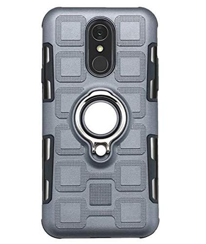 NANXCYR Für LG Q7 / Q7 aipha / V30 / Q8 / H970 / Q6 / Q6 Mini Fall, PC-TPU Invisible Ring Stoß- Anti-Fall-Abdeckung für LG stylo5 / K40 / K12 / K50,Grau,LGK40/K12
