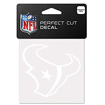 WinCraft NFL Houston Texans 4x4 Perfect Cut White Decal One Size Team Color