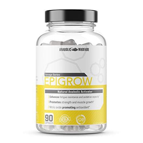 Epigrow Anabolic Activator by Anabolic Warfare – Helps Promote Strength and Muscle Growth (90 Capsules)