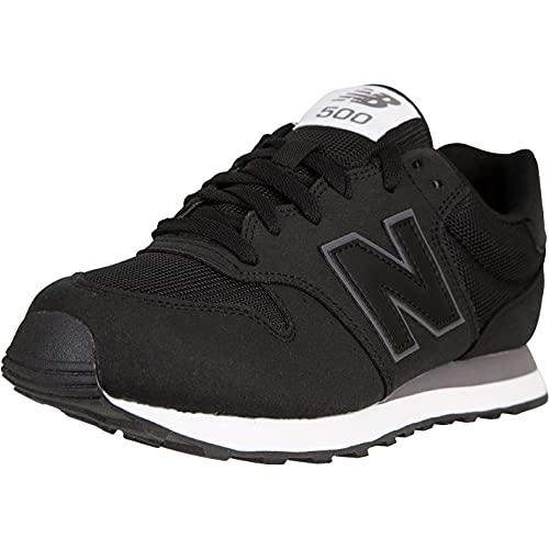 New Balance NB 500 Sneaker (Black/Grey, Numeric_43)