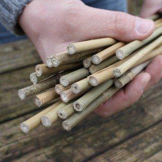 25 Stück Bambusstäbe - Tonkinstäbe 90 cm/6-8 mm