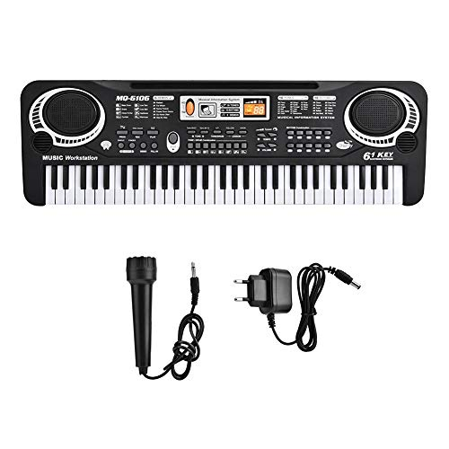 61-Key Piano Keyboard Toy for Kids, Electric Digital Key Board Piano Musical Instruments Kids Toy with Microphone (EU Plug)