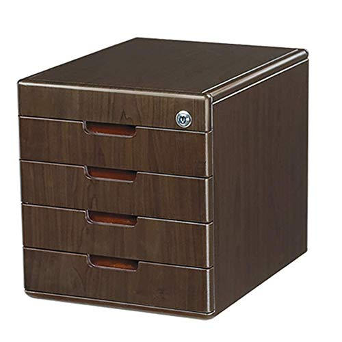 Archiefkast archiefkast multilayer massief hout met slot desktop-aktenkast laden-type data floor vitrine papieropslag Finishing Low Cabinet Office Data Setting Organizer 4 A
