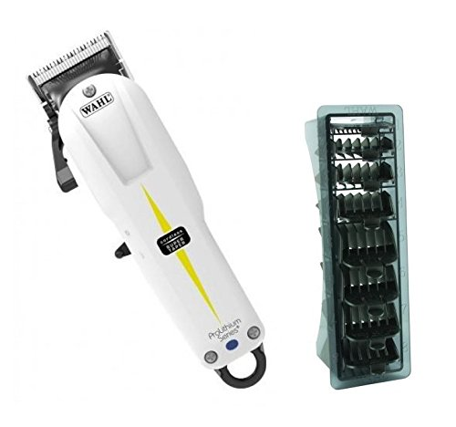 Wahl draadloze Super Taper Clipper en 1-8 zwarte Clipper kam set