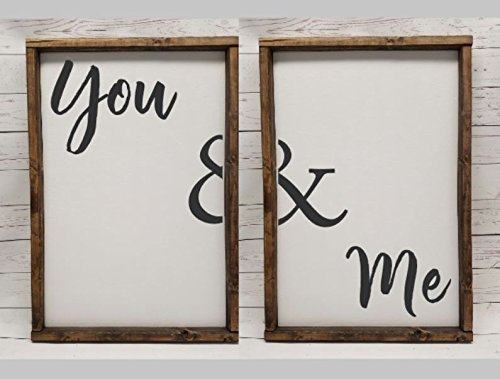 Master Bedroom Decor, for wedding head table, You & Me, Farmhouse sign, rustic decor, fixer upper style