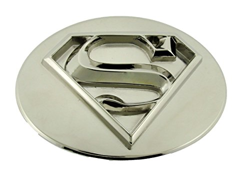 Superman Return Belt Buckle DC Comics Logo Icon Metal Fashion Costume Unisex New (3d All Silver)