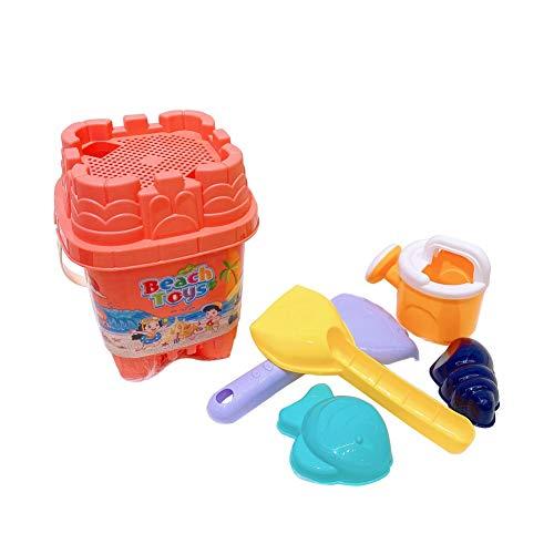 Whiie891203 Sand Und Wasser Spielen Tisch 3 In 1 Plastik Kinder Strandspielzeug Im Freien Mit Arten Von Zubehör Und Hocker 5Pcs Kid Bucket Sprinkler Schimmel Pretend Game Zufällige Farbe