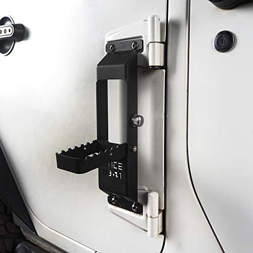 Hooke Road Wrangler Door Hinge Step Foot Pedal w/Since 1941 Sign for 2007-2018 Jeep Wrangler JK & JKU