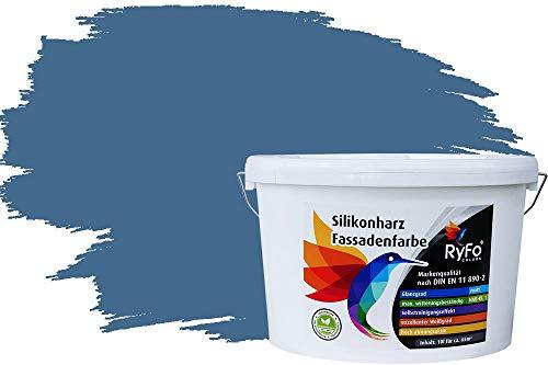 test RyFo Colors Silikonfarbe Fur Blue 10l für Fassade neigt zum Lotus-Effekt – Bunte Farbe für Fassade… Deutschland