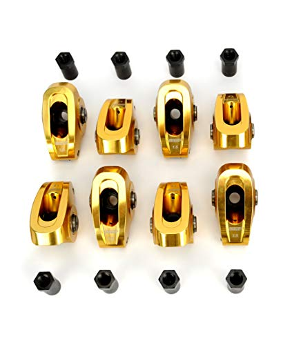 COMP Cams 19001-8 Ultra-Gold Aluminum Roller Rocker Arm with 1.5 Ratio and 3/8' Stud Diameter for Small Block Chevrolet, (Set of 8)