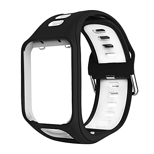 Gransho Bracelet de Montre Compatible avec Tomtom Spark/Spark 3 / Runner 2 / Runner 3 / Golfer 2 / Adventurer, Bande de Silicone Sangle (Pattern 8)