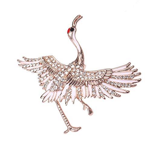 Crane Brosche Pins Tierbrosche für Männer Anzug Dress Pins Kleidung Zubehör Gold