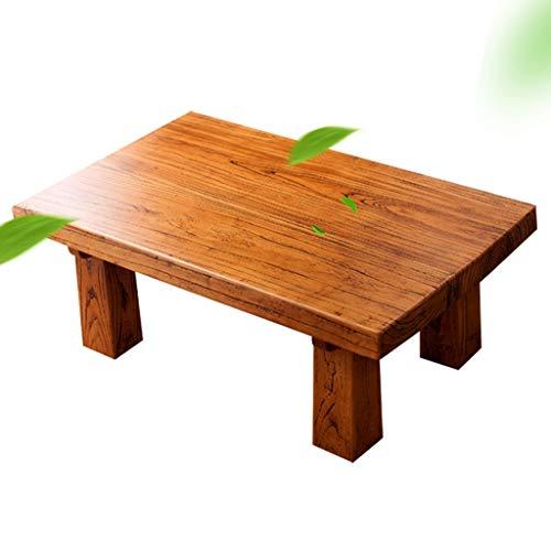 Couchtische alte ULM Boden Massivholz Tatami chinesische antike Fenstertisch Tabelle Fensterbrett niedrigen Tisch Kaffeetische (Color : Brown, Size : 60 * 40 * 30cm)