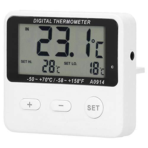 Termómetro Refrigerador Alarma Termómetro Interior Exterior Medición de temperatura universal con sonda Ventosa