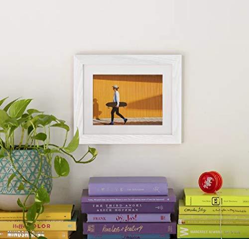 Wayfair Basics Bilderrahmen, mattiert, Bildgröße 20,3 x 25,4 cm, Gesamtgröße 30,5 x 38,1 cm, Weiß