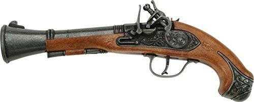 A partire dai 7 anni – con petari. Una pistola in metallo per giocare ai cowboy e agli indiani o per impressionare i vostri amici. Con o senza petardi, è la pistola che vi mancava. Età minima: 7 anni. Dimensioni: 28 x 13,5 x 4,4 cm.