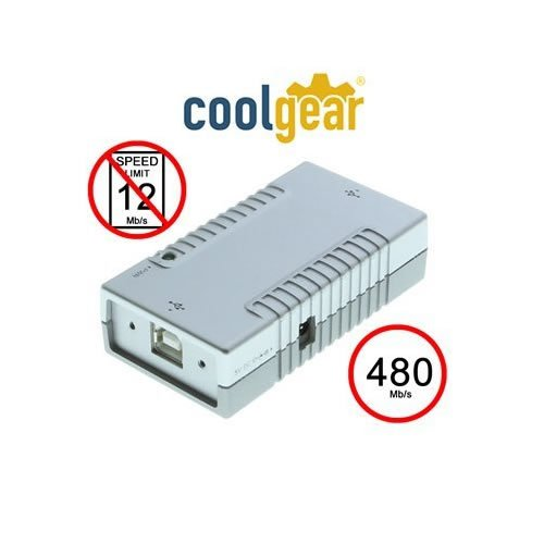 Price comparison product image Coolgear USB 2.0 High Speed 480Mbps Isolator Adapter and Screw Lock Cable