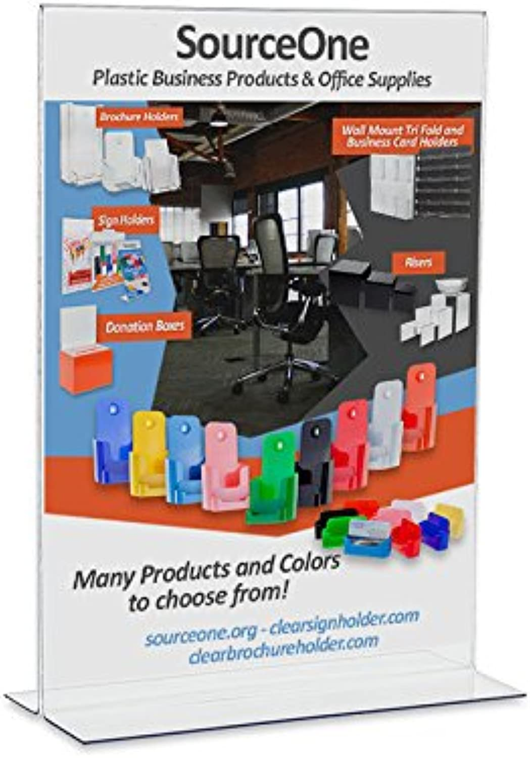 Source One 4 X 6 Premium Upright Clear Acrylic Sign Holders Table Tents Ad Frames
