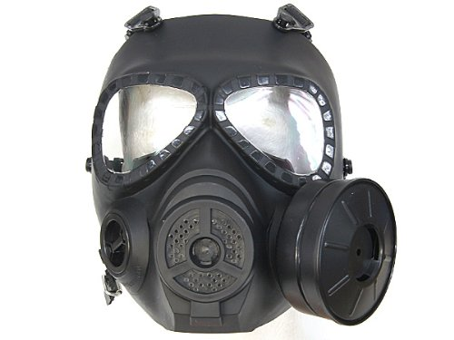 Misula Hot CS Airsoft Paintball Dummy Gas Mask with Fan for Cosplay Protection Halloween Evil Antivirus Skull Festival Decor