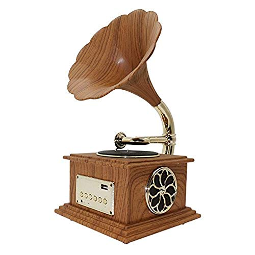 Great Price! HHHKD Mini Vintage Retro Classic Gramophone Phonograph Shape Speaker Sound System Music...
