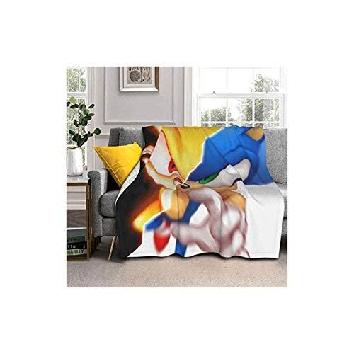 zhengshi So-Nic Hed-Gehog Manta de doble cara súper suave, de cachemir de cordero/plata de zorro cachemira. Ligero, suave, mullido, cálido y cómodo. Perfecto para camas y sofás.