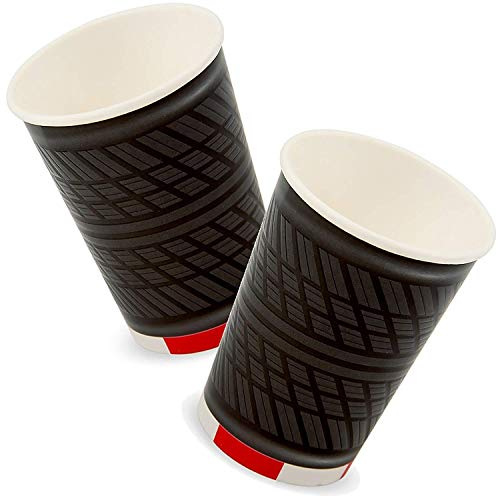 Folat 4 große Papp-Becher * Formula * mit Reifen-Profilprägung für Kindergeb