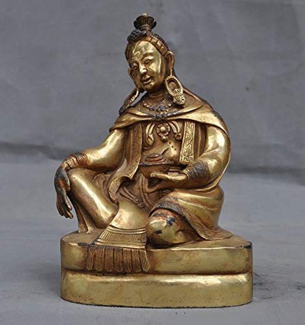チャネル南リンケージチベット仏教寺院ブロンズ金箔富ジャムバラマンモン仏像